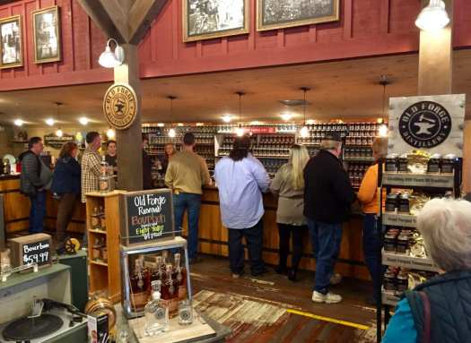 Old Forge Distillery, Pigeon Forge, sees thousands of tourist a month.