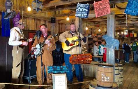 Music often greets those visiting the Gatlinburg Barrelhouse.
