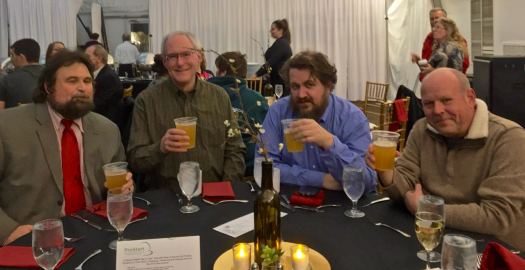 The judging beer team at the 2016 Cast Iron Cook-Off prepares for the festival's first beer judging event.