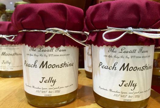 Peach flavored Moonshine Jelly by Leavitt Farm