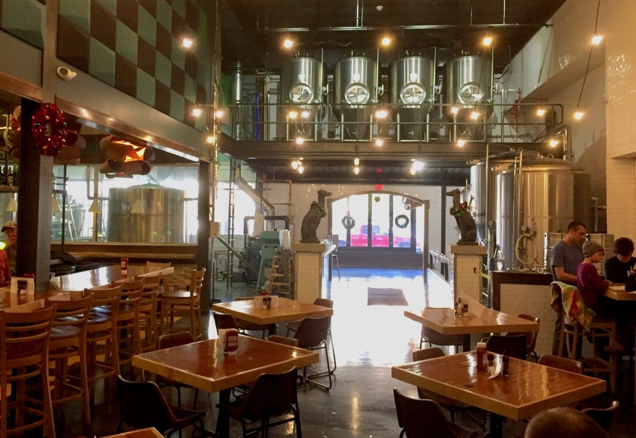 peddler restaurant brewery opens huntington u0027s beer drought to end