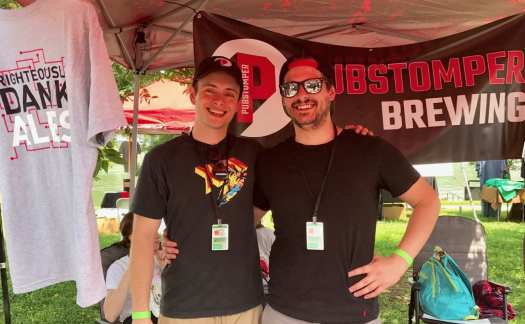 Cody cheese borough, left, and of Pubstomper Brewing