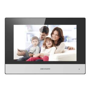 """Hikvision 2nd Gen IP Intercom, 7"""" Touch Screen Room Station, WiFi, 1024 x 600, 12VDC/POE"""