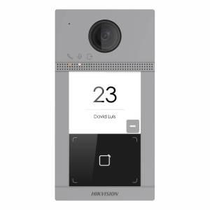 Hikvision 2nd Gen IP 2MP Villa Door Station, 1 Button, Wi-Fi, Mifare, Aluminium, Surface