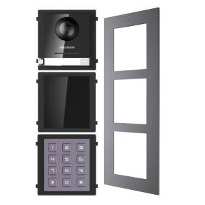 Hikvision 2nd Gen IP Intercom Kit, Door Station, Keypad, Reader Module & Surface Mount