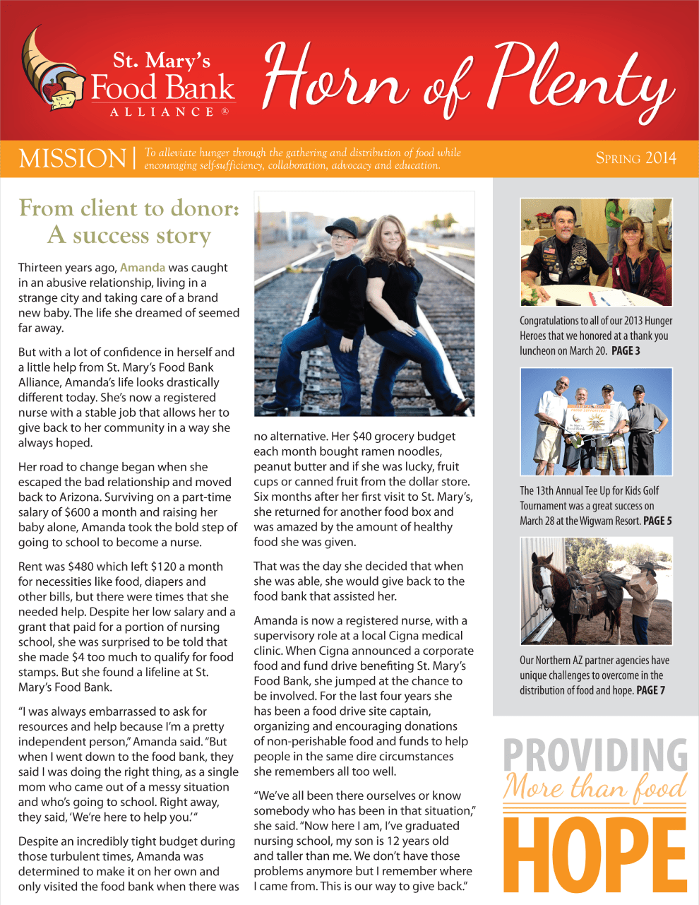 Horn of Plenty Newsletter Spring 2014