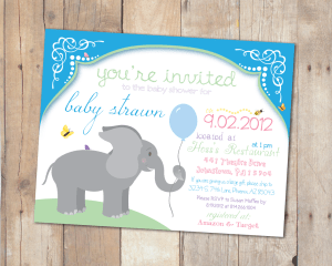 Strawn Baby Shower Invitation