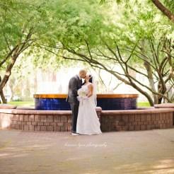 Lopez Moryl Wedding - fountain kiss