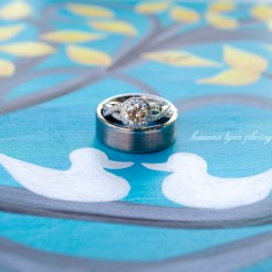 Lopez Moryl Wedding - Rings on painting
