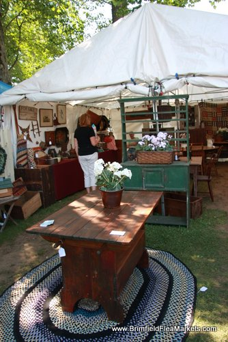 Lovely country booth at Hertan's Show Field in 2015 Brimfield