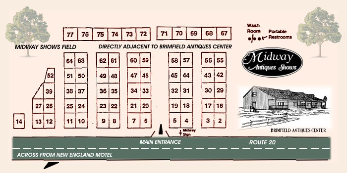 Midway Antiques Show - Field Map