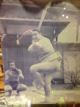 Sumo playing baseball