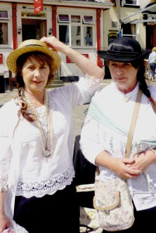 Stall Holders in Costume at Ashbourne Vintage Street