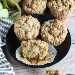Apple Crumb Muffins with Candied Ginger