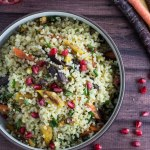 Bulgur with Spiced Carrots & Pistachios