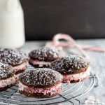 Chocolate Whoopie Pies with Peppermint Marshmallow Filling