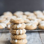 Chewy Gingersnap Cookies with Bourbon Vanilla Glaze