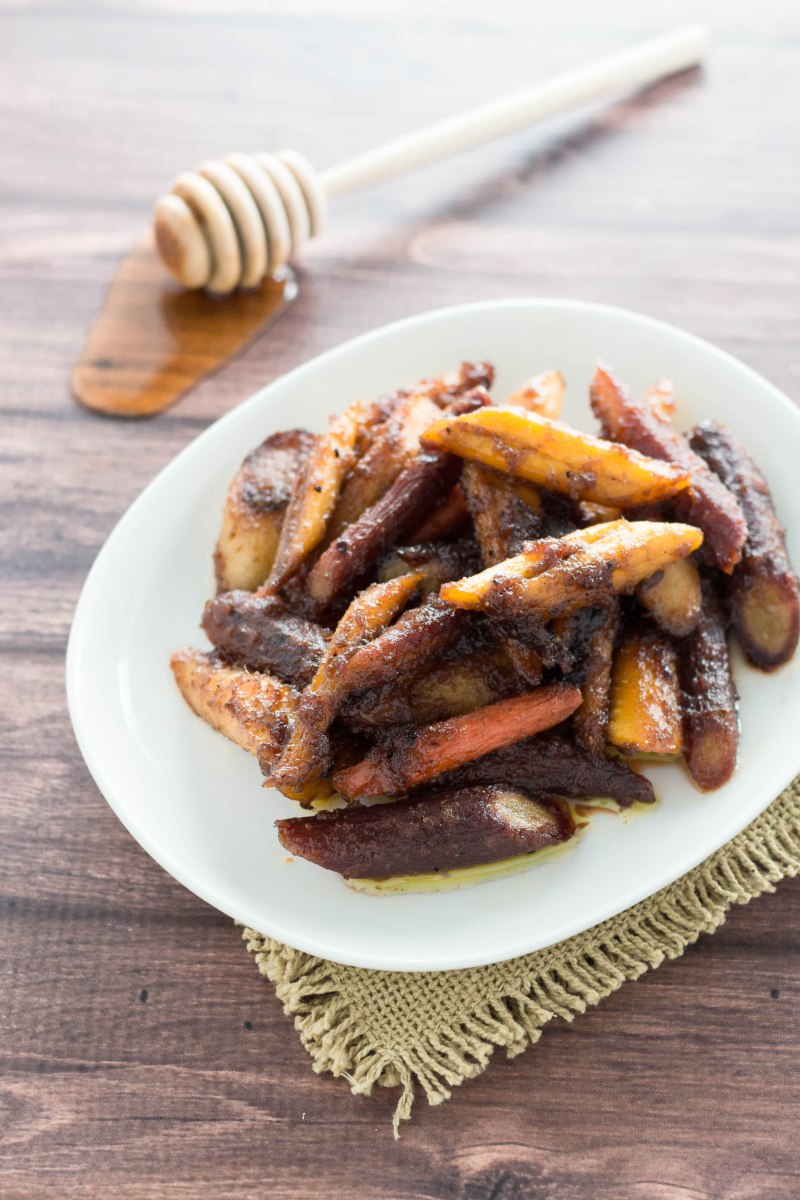 Honey Ginger Glazed Carrots with Brown Butter
