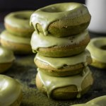 Baked Matcha Glazed Doughnuts