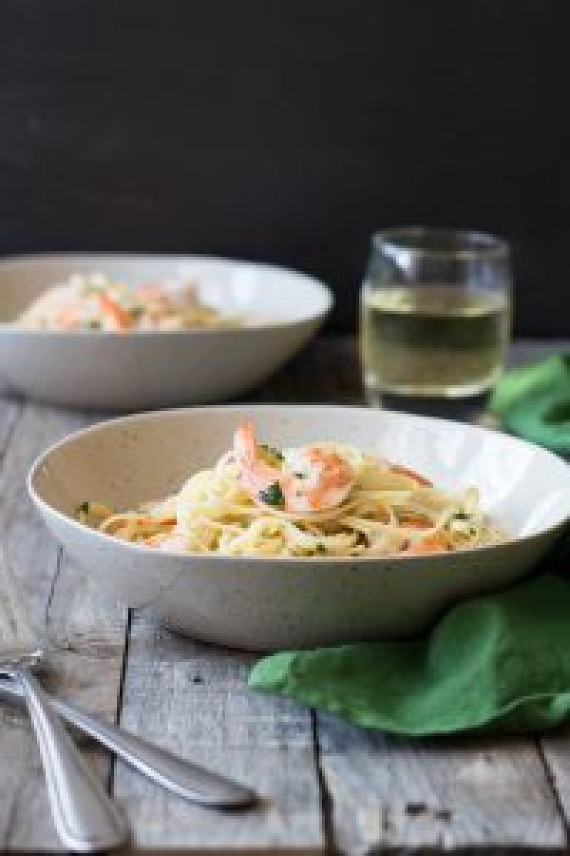 Shrimp Scampi Linguine