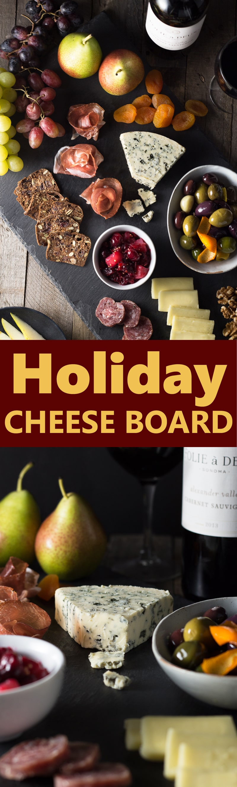 Holiday Cheese Board with Cranberry Mostarda & Marinated Olives