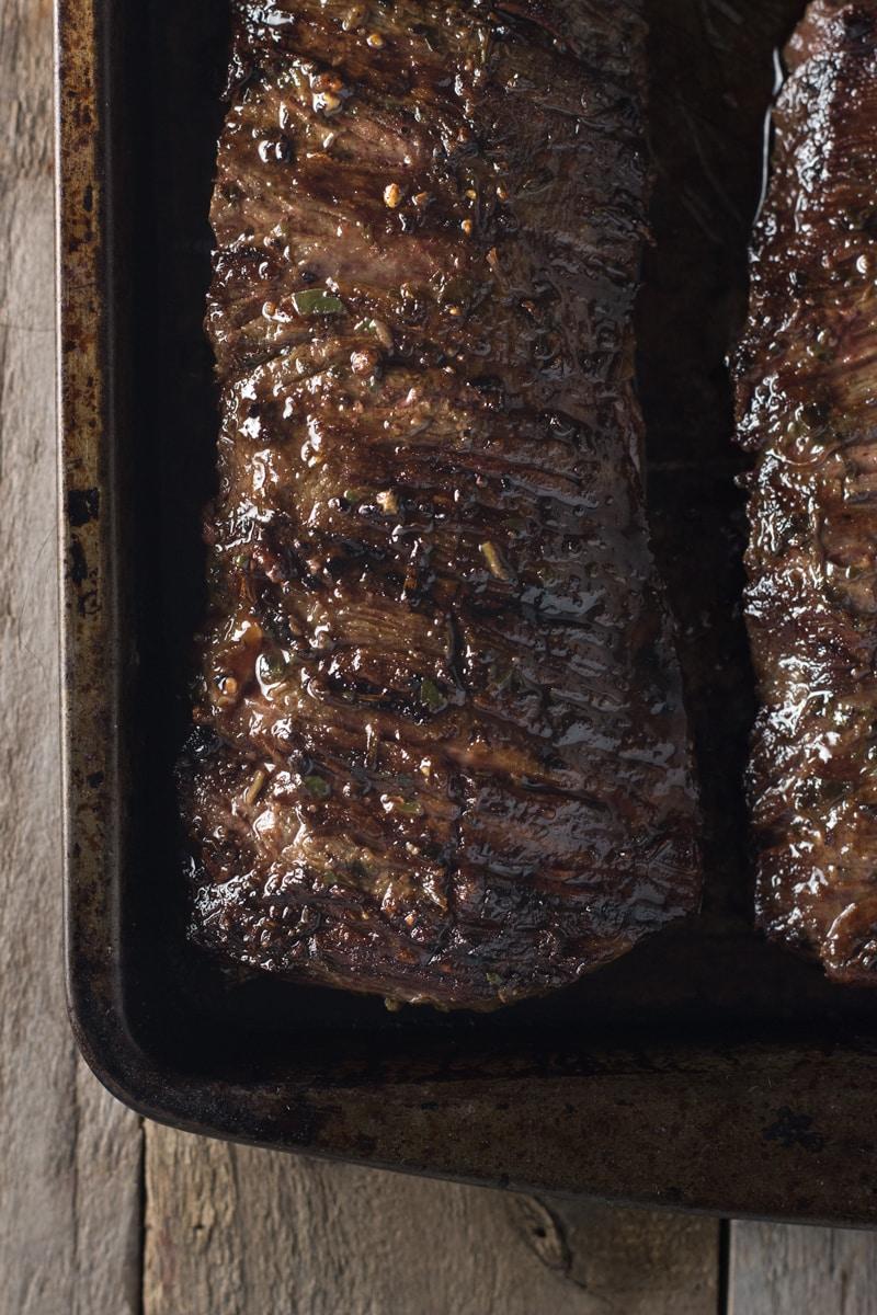 Skirt Steak Chimichurri Tacos with Charred Corn Pico de Gallo | Brinasbites.com @Brina's Bites