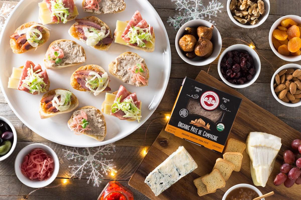 Holiday Charcuterie Board with a Mini Sandwich Trio | Brinasbites.com @Brina's Bites