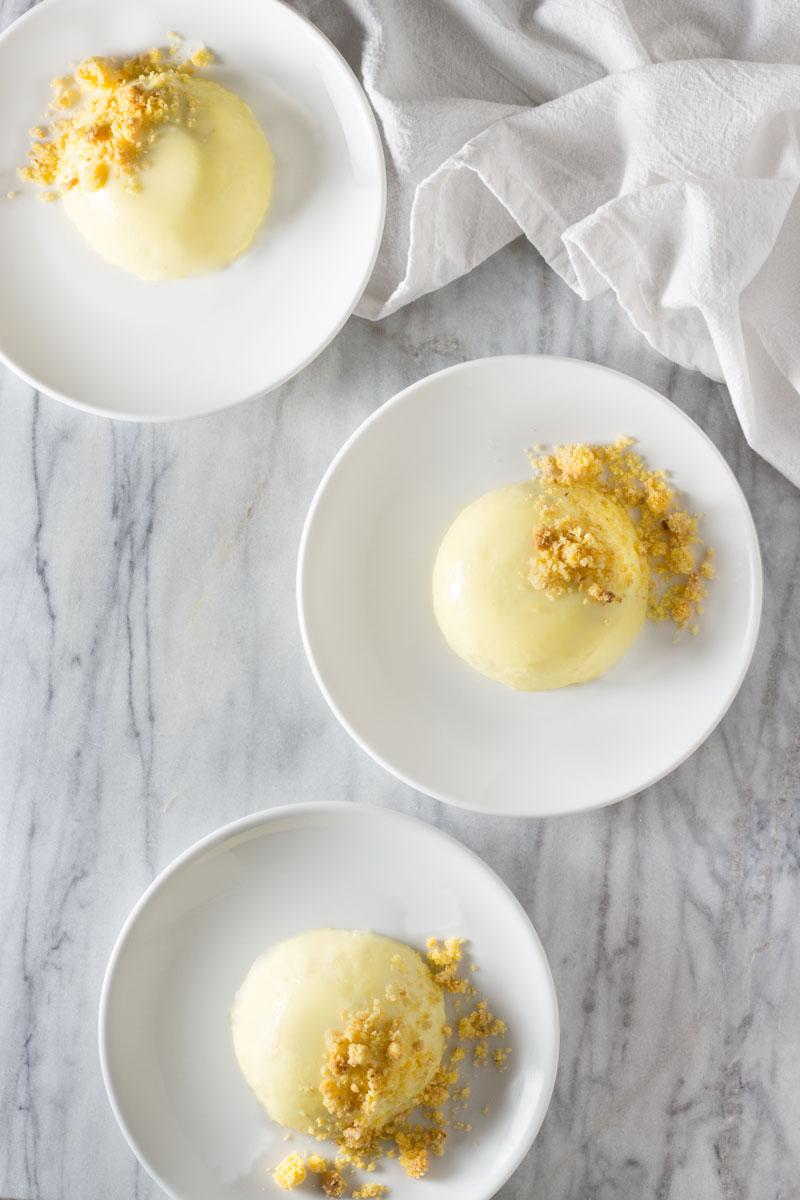 Sweet Corn Panna Cotta with Sbrisolona Crumble | Brinasbites.com @Brina's Bites