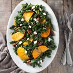 Kale, Persimmon & Pomegranate Salad with Maple-Butter Pecans