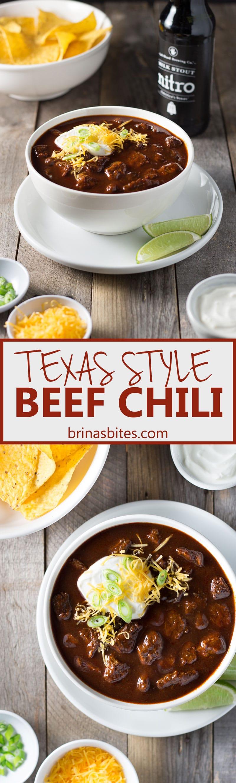 Texas Style Beef Chili | Brinasbites.com @Brina's Bites