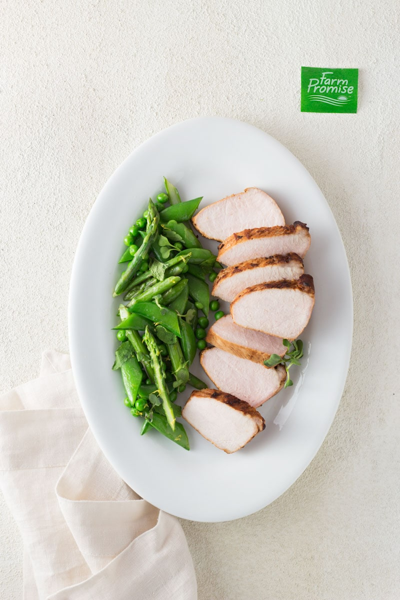 Citrus Roasted Pork Loin with Spring Vegetables