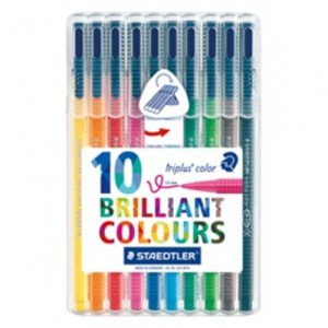 Estojo c/10 marcadores Triplus Color