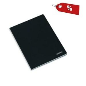 Caderno agrafado capa preta A5 - Emb. c/10