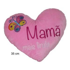 Almofada Coração 35cm - Mãe