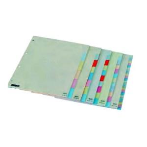 Separador em cartão c/ 10 cores