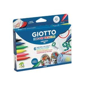 Emb. c/6 marcadores Giotto Textile Decor