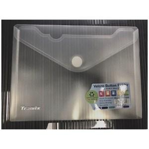 Emb. c/12 bolsas A4 transparentes - Fecho velcro