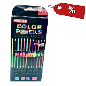 Lápis de cor 2 cores - Emb. c/12