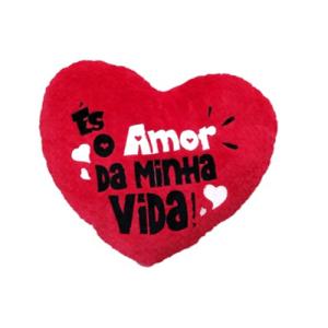 """Almofada coração """"És o amor"""" - 25cm"""