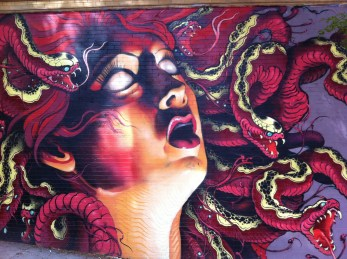 Mural around Haight St. It now is partially covered with other tags I believe.