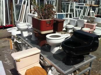 Toilet graveyard.