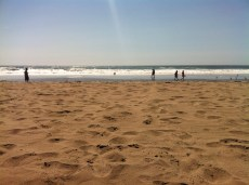 The rare sunny warm day at Ocean Beach, SF.