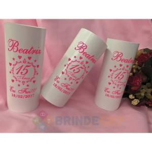 Copos Long Drink Personalizados Beatriz 15 anos