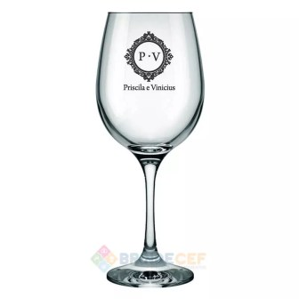 Taça de Vidro para Água Barone 490ml Personalizada