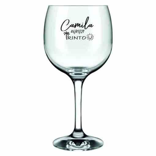 Taças de Gin De Vidro modelo Ginebra 653ml Personalizadas Para Brindes e Eventos