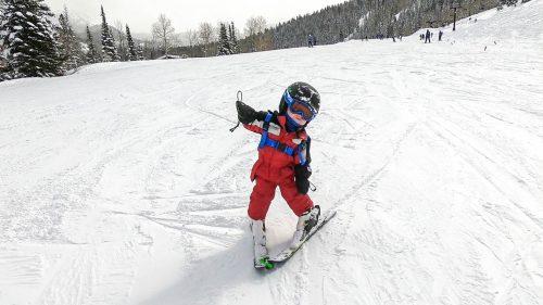 Ethan Skiing