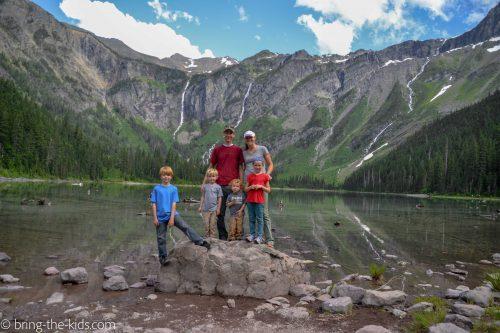 mountain lake family, avalanche lake