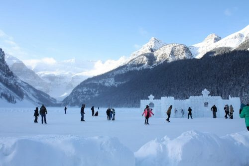 christmas skiing lake louise