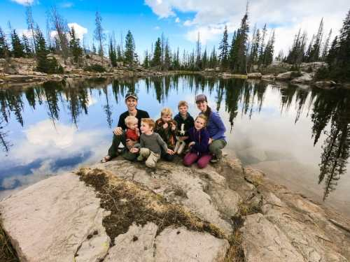 lake naomi high uintah wilderness with kids