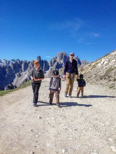 tre cime lavaredo with kids